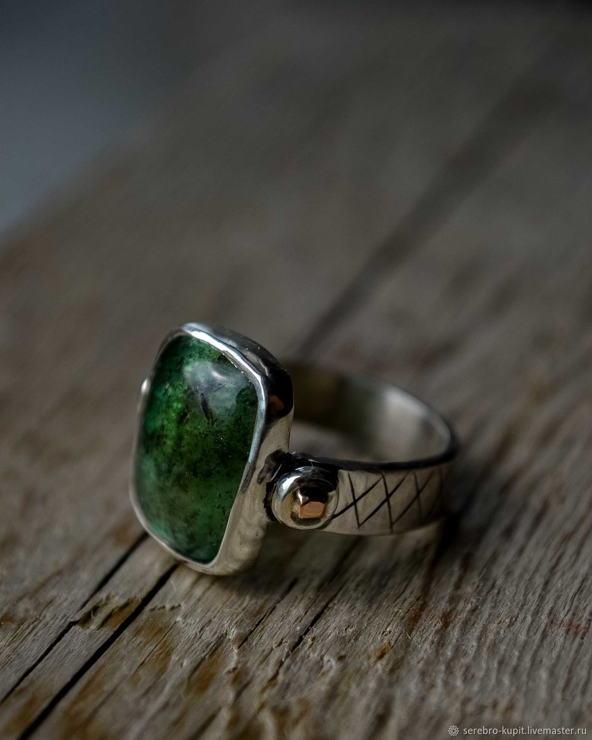 Silver ring with natural stone, silver ring with beryl, Rings, St. Petersburg,  Фото №1