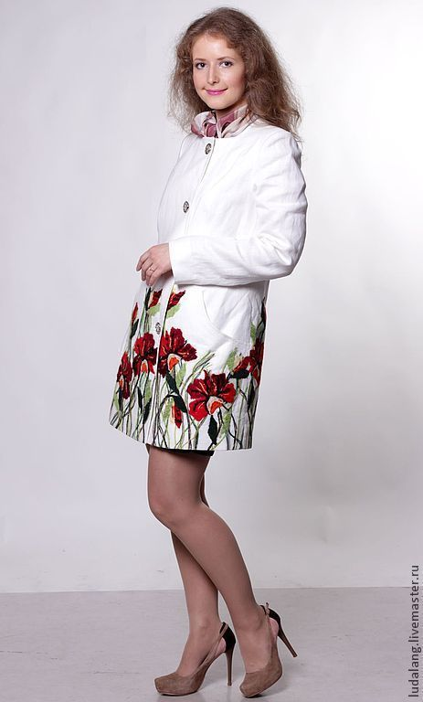 """Пиджаки, жакеты ручной работы. Ярмарка Мастеров - ручная работа. Купить льняной жакет """"Летний мак"""". Handmade. Белый"""