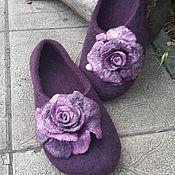 Обувь ручной работы. Ярмарка Мастеров - ручная работа Тапочки валяные с Розами. Handmade.