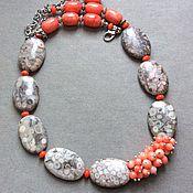 """Украшения ручной работы. Ярмарка Мастеров - ручная работа бусы """"Коралловые острова  """" из коралла. Handmade."""