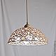 Большой ажурный светильник с 4мя лампами. Плетеная керамика Елены Зайченко