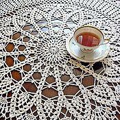 Для дома и интерьера handmade. Livemaster - original item Tablecloth round crocheted Cozy house. Handmade.