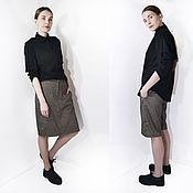 Одежда ручной работы. Ярмарка Мастеров - ручная работа юбка-шорты в полосочку. Handmade.