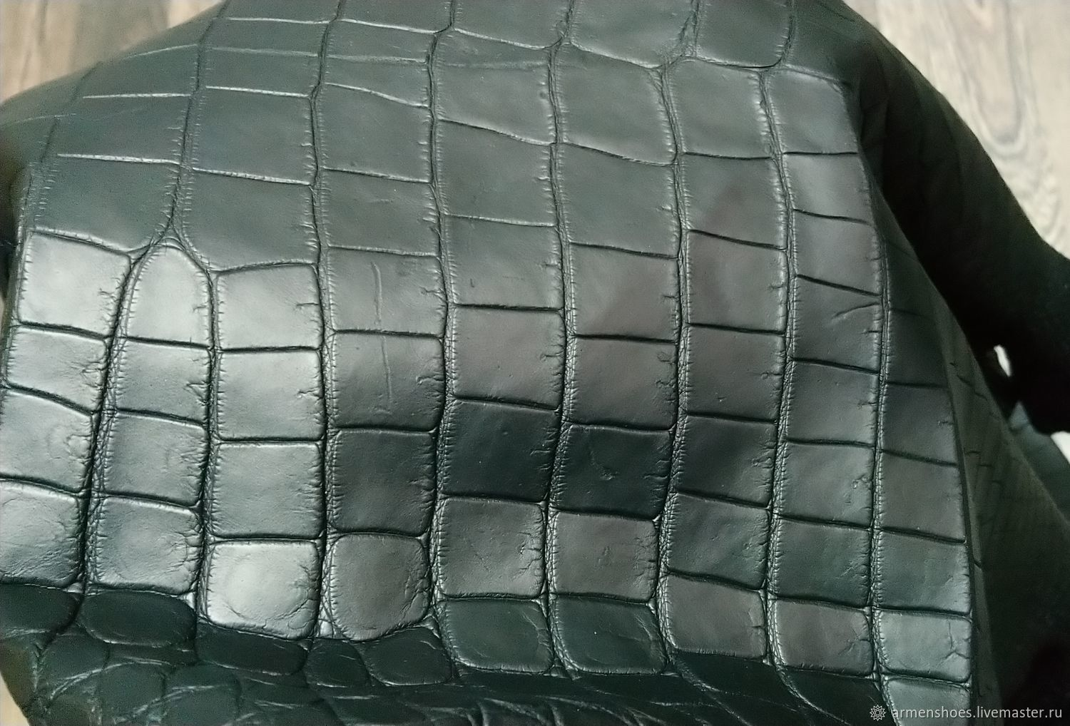 Crocodile skin, soft dressing, matte surface, Leather, Tosno,  Фото №1