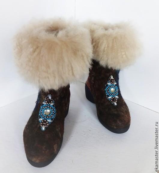 """Обувь ручной работы. Ярмарка Мастеров - ручная работа. Купить Сапожки валяные. Валенки.Валенки на подошве """"Автоледи"""". Handmade. Валенки"""