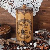 """Для дома и интерьера ручной работы. Ярмарка Мастеров - ручная работа Большой короб   для хранения  кофе или чая  """"Утро в Париже"""". Handmade."""