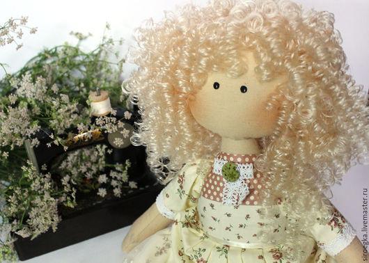 Куклы тыквоголовки ручной работы. Ярмарка Мастеров - ручная работа. Купить Анна кукла тыквоголовка. Handmade. Бежевый, кукла в подарок