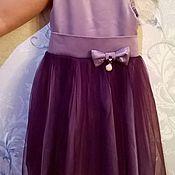 Работы для детей, ручной работы. Ярмарка Мастеров - ручная работа Праздничное платье сливовое. Handmade.