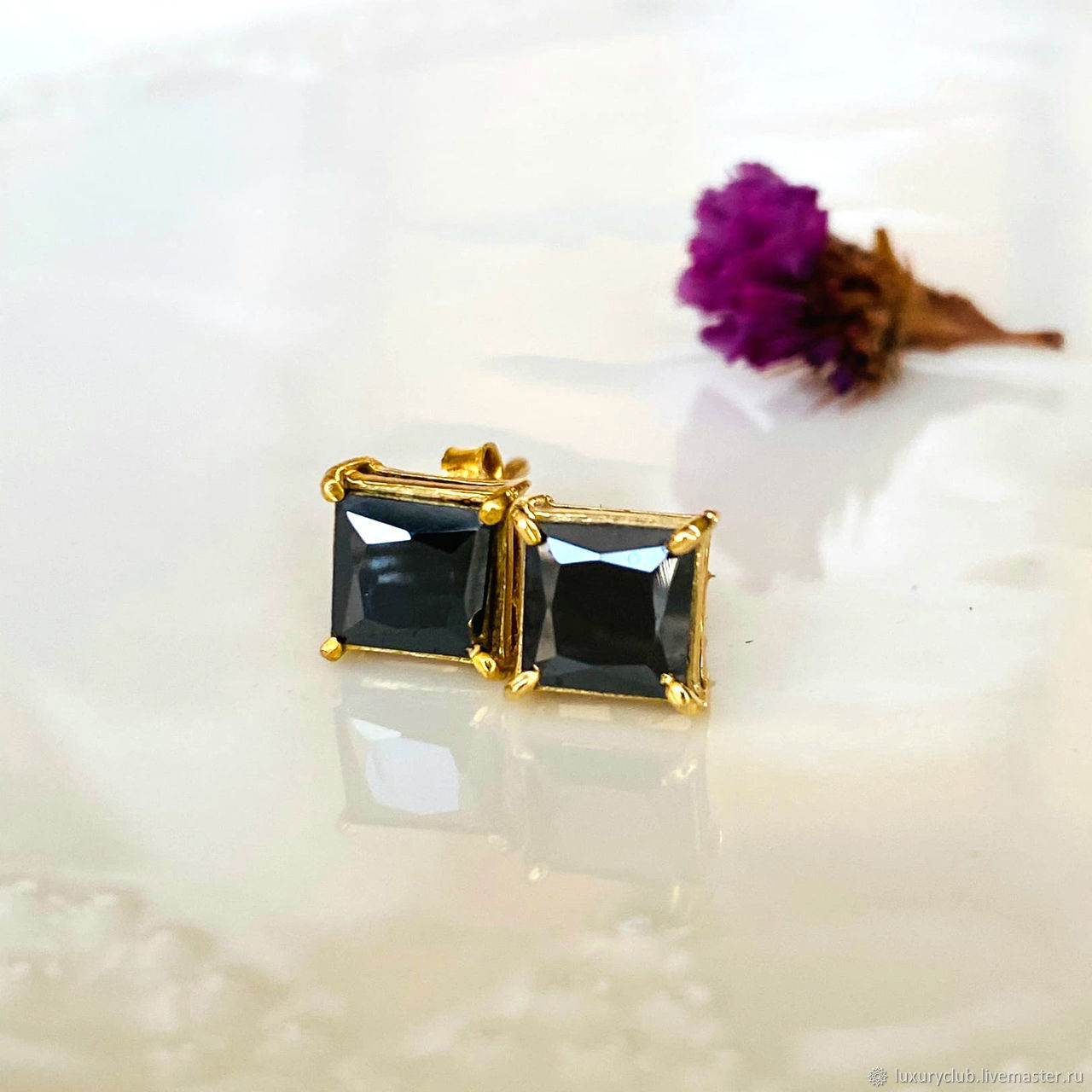 Poussettes with diamonds 'Cubes' to buy, Stud earrings, Tolyatti,  Фото №1