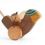 Куклы и игрушки ручной работы. Ярмарка Мастеров - ручная работа Каталка Воробей на палочке. Handmade.