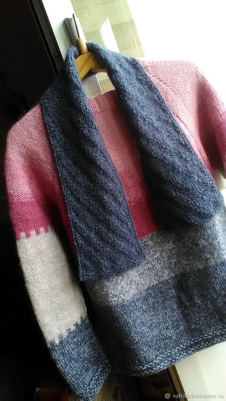 Свитер с шарфиком из кид мохера и полушерсти, Кофты и свитера, Кривой Рог, Фото №1