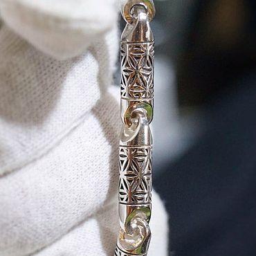 """Украшения ручной работы. Ярмарка Мастеров - ручная работа Литьевой браслет """"Лепестки Геометрии"""" из серебра. Handmade."""
