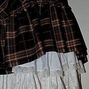 """Одежда ручной работы. Ярмарка Мастеров - ручная работа """"Алия"""" шоколадная клетка  юбка. Handmade."""