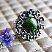 Украшения handmade. Livemaster - original item Chrome diopside, silver: emerald glade ring