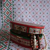Для дома и интерьера ручной работы. Ярмарка Мастеров - ручная работа шкатулка с пижемской росписью. Handmade.