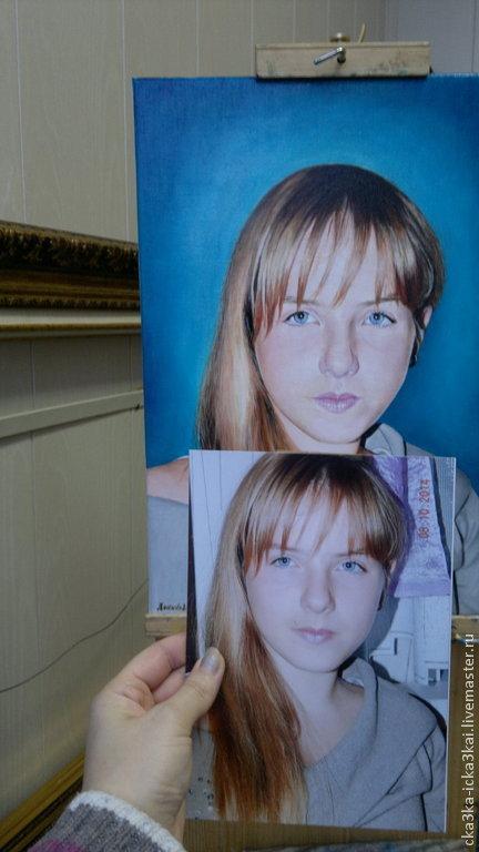 Портреты на заказ в подарок 50х35 - 25 тыс.руб. картина представлена для примера.