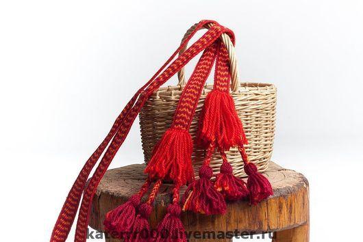 Ткачество ручной работы. Ярмарка Мастеров - ручная работа. Купить Пояс к сарафану. Handmade. Ручное ткачество, женский пояс