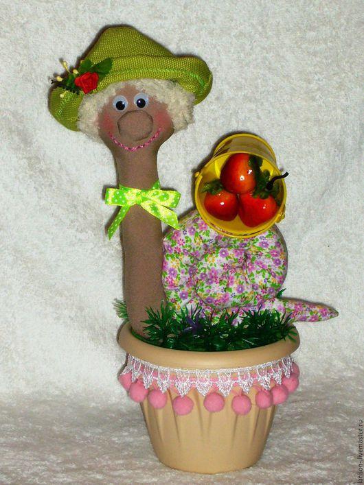 Куклы Тильды ручной работы. Ярмарка Мастеров - ручная работа. Купить Улитка- садовница. Handmade. Комбинированный, тильда, для детей, спицы
