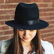 Аксессуары handmade. Livemaster - original item Fedora Hat Unisex. Color black. Handmade.