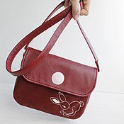 Clutches handmade. Livemaster - original item Small bag over women shoulder. Embroidered clutch, burgundy.. Handmade.
