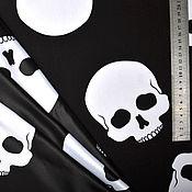 Материалы для творчества handmade. Livemaster - original item Fabric with skulls №2. Handmade.