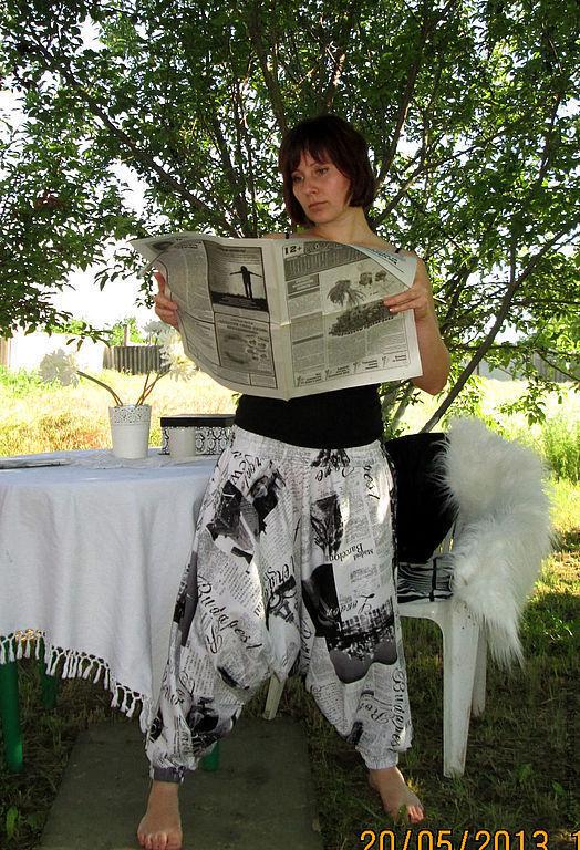 Этническая одежда ручной работы. Ярмарка Мастеров - ручная работа. Купить Афгани «The Times». Handmade. Чёрно-белый, отпуск