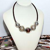 Necklace handmade. Livemaster - original item Necklace The Flavor Of The Chocolate. Handmade.