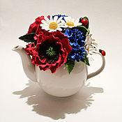 """Цветы и флористика ручной работы. Ярмарка Мастеров - ручная работа Чайник """"Волшебное чаепитие"""" 3. Handmade."""