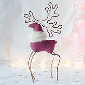 Игрушки ручной работы. Ярмарка Мастеров - ручная работа Новогодняя игрушка олень, мягкая игрушка в скандинавском стиле. Handmade.
