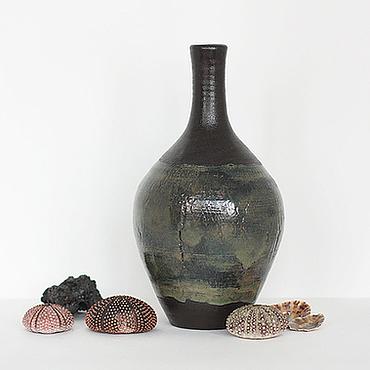 Для дома и интерьера ручной работы. Ярмарка Мастеров - ручная работа Ваза-бутылка Между Сциллой и Харибдой. Handmade.