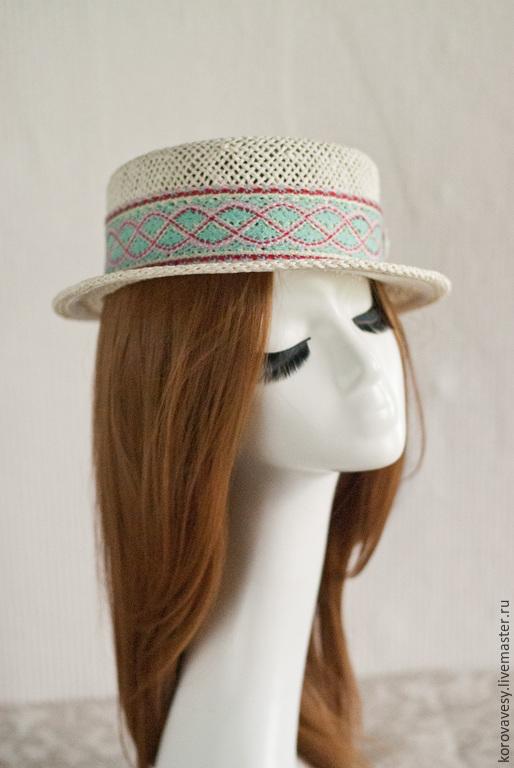 """Шляпы ручной работы. Ярмарка Мастеров - ручная работа. Купить """"Мон Ами"""". Handmade. Белый, модная шляпка, Париж"""