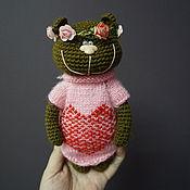 Мягкие игрушки ручной работы. Ярмарка Мастеров - ручная работа Вязаный Медвежонок в Веночке. Handmade.