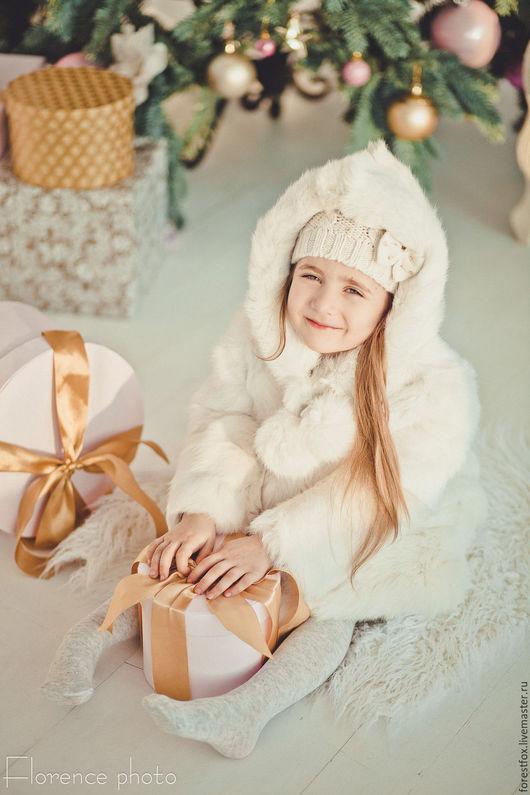 Верхняя одежда ручной работы. Ярмарка Мастеров - ручная работа. Купить Детская шубка из кролика. Handmade. Белый