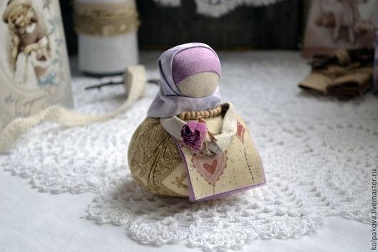 """Народные куклы ручной работы. Ярмарка Мастеров - ручная работа. Купить кукла-оберег Благополучница """"Нежность"""".. Handmade. Розовый, валентинка"""