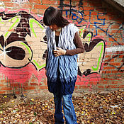 Одежда ручной работы. Ярмарка Мастеров - ручная работа Жилет с косами .. Handmade.