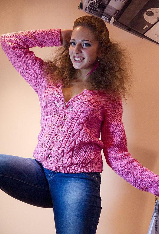 """Кофты и свитера ручной работы. Ярмарка Мастеров - ручная работа. Купить Кофточка """"Полли"""". Handmade. Бледно-розовый, нежность"""