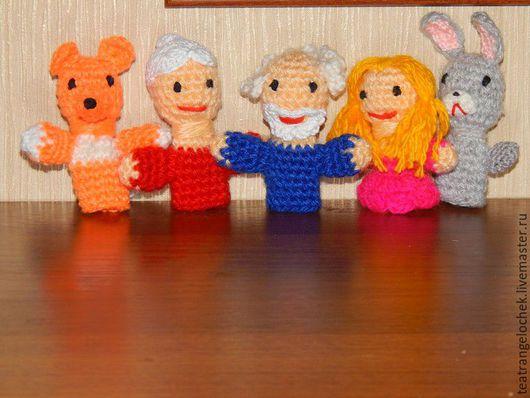 Развивающие игрушки ручной работы. Ярмарка Мастеров - ручная работа. Купить Пальчиковый театр пальчиковые  куклы. Handmade. Комбинированный