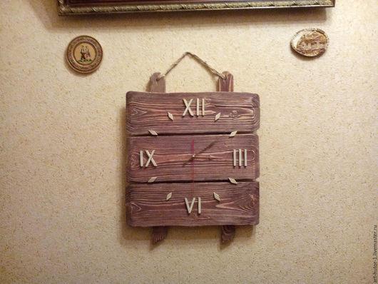 """Часы для дома ручной работы. Ярмарка Мастеров - ручная работа. Купить Деревянные часы """"Кантри style"""" большие. Handmade."""
