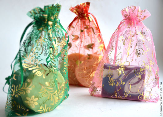 Упаковка ручной работы. Ярмарка Мастеров - ручная работа. Купить Мешочек из органзы. Handmade. Мешочек из органзы, красивый подарок