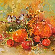 Картины и панно handmade. Livemaster - original item Pumpkins - oil painting. Handmade.