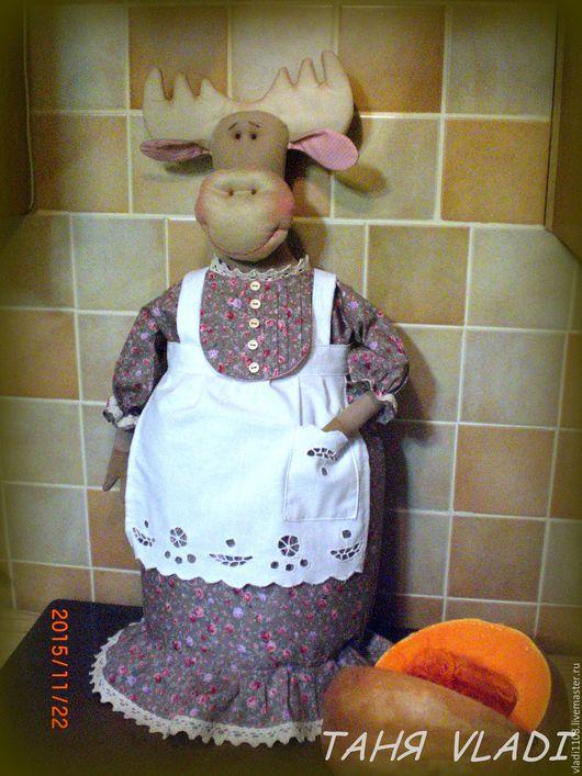 Кухня ручной работы. Ярмарка Мастеров - ручная работа. Купить пакетницаТетушка РОУЗ. Handmade. Пакетница, пакетница кукла, кружево хлопок