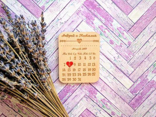 """Подарки на свадьбу ручной работы. Ярмарка Мастеров - ручная работа. Купить Свадебные деревянные магнитики """"Красное сердце"""". Handmade. На свадьбу"""