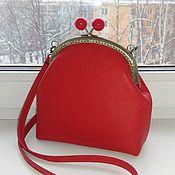 """Классическая сумка ручной работы. Ярмарка Мастеров - ручная работа Сумка """"Red"""" натуральная кожа. Handmade."""