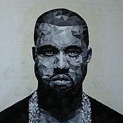 Картины и панно handmade. Livemaster - original item Pop art Kanye West. Handmade.