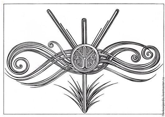 Символизм ручной работы. Ярмарка Мастеров - ручная работа. Купить Руна Альгиз. Handmade. Руника, рунический амулет, руны, руна