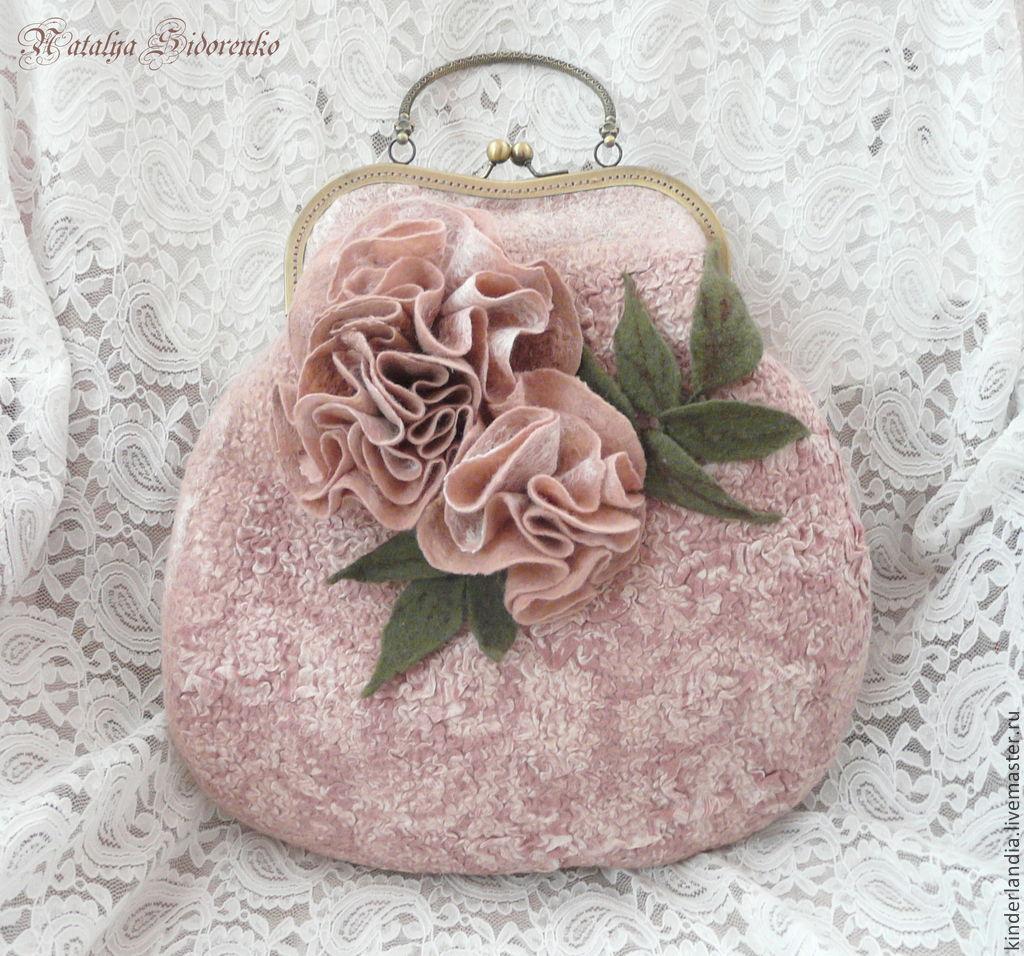 Felted handbag Fleur, Classic Bag, St. Petersburg,  Фото №1