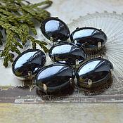 Материалы для творчества handmade. Livemaster - original item Pearl rhinestones Black 13h18 mm oval. Handmade.