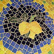 """Для дома и интерьера ручной работы. Ярмарка Мастеров - ручная работа Стол обеденный """" Лимонная рапсодия"""", мозаика. Handmade."""