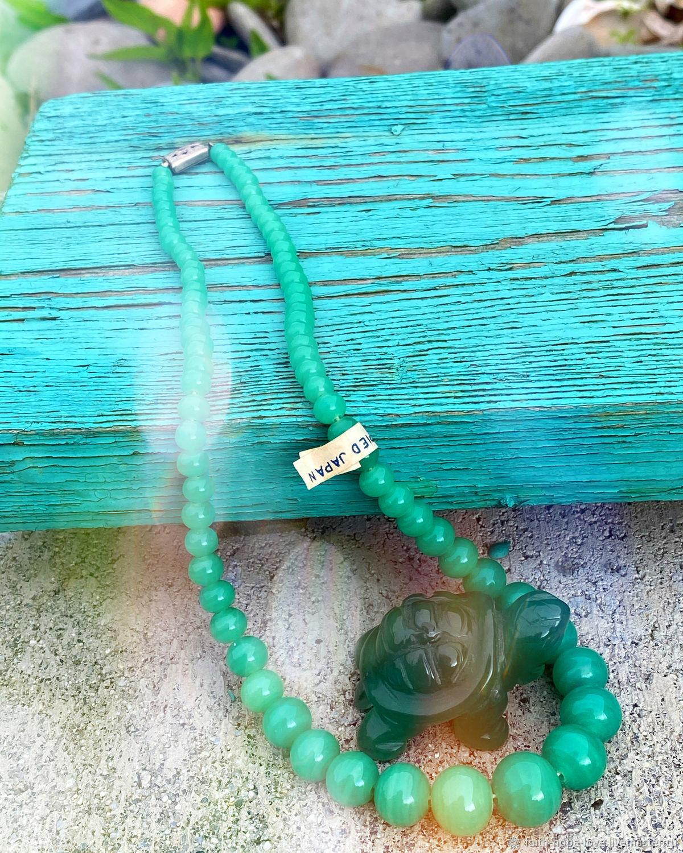 Green valley. necklace. Art glass. Japan, Vintage necklace, Vladivostok,  Фото №1