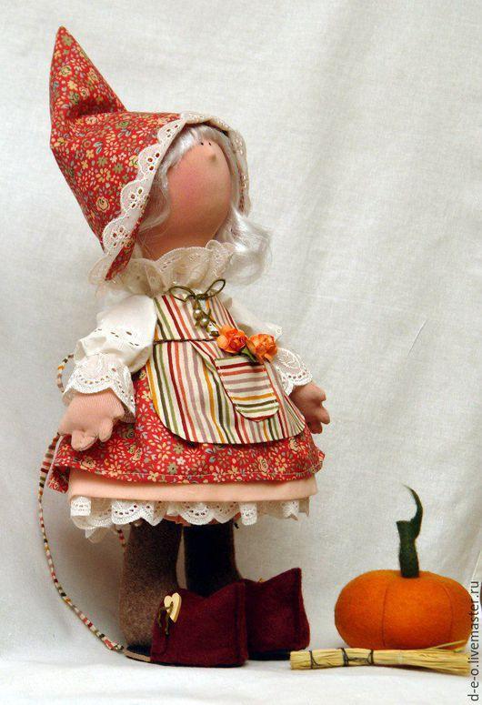 Куклы Тильды ручной работы. Ярмарка Мастеров - ручная работа. Купить Фея с тыквой. Handmade. Разноцветный, авторская кукла, хлопок